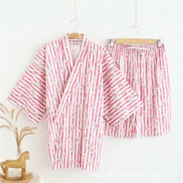 夏季女士棉布日式和服漢服親子睡衣家居服浴衣汗蒸服桑拿服