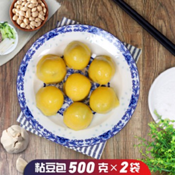 東北粘豆包【500g×2袋】正宗黏黃米蕓豆餡蒸煎年糕傳統糕點包郵