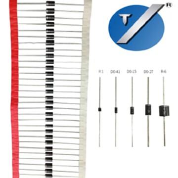 包郵廠家直銷BY255 整流二極管 DO-27封裝1300V 高壓二極管BY255